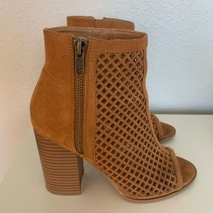 Forever 21 opened toed bootie size 7